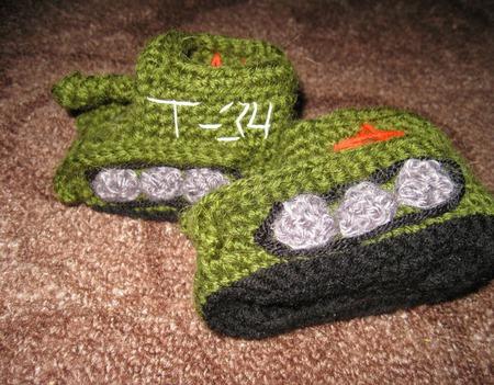 Пинетки-танки ручной работы на заказ