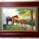 Лошади у источника