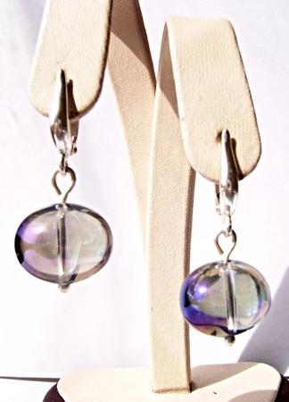 Серьги из серебра и чешского стекла ручной работы на заказ