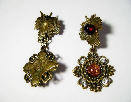 Серьги с натуральным янтарём ручной работы на заказ