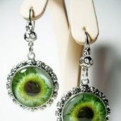 """Серьги """"Глаз зелёный"""""""