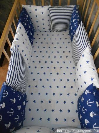 Бортики в детскую кроватку ручной работы на заказ