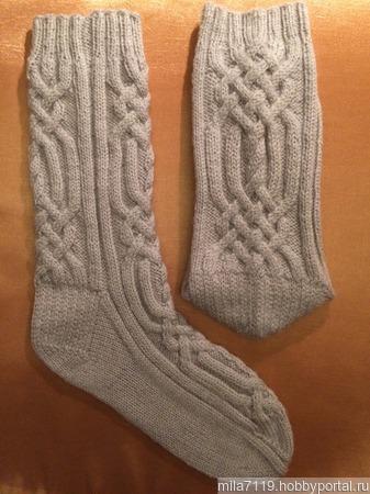 Носки с аранами - 1 ручной работы на заказ