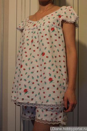 """Ночная пижама """"Аугусти"""" ручной работы на заказ"""