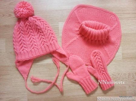 Зимний комплект для девочки ручной работы на заказ