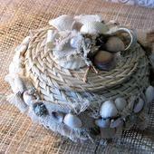 Плетеная шкатулка под украшения, косметику
