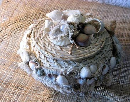 Плетеная шкатулка под украшения, косметику ручной работы на заказ