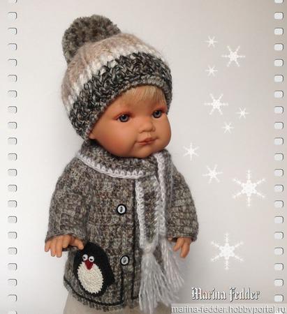 Зимний комплект для куклы ручной работы на заказ