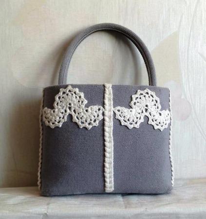 Сумочка вязаная в стиле Бохо ручной работы на заказ