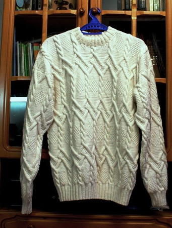 Мужской свитер Белоснежный ручной работы на заказ