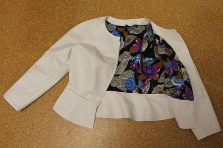Куртка из искусственной кожи Белоснежная ручной работы на заказ