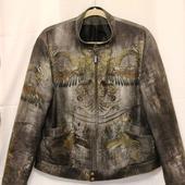 Куртка джинсовая мужская Драконы Роберто Кавалли