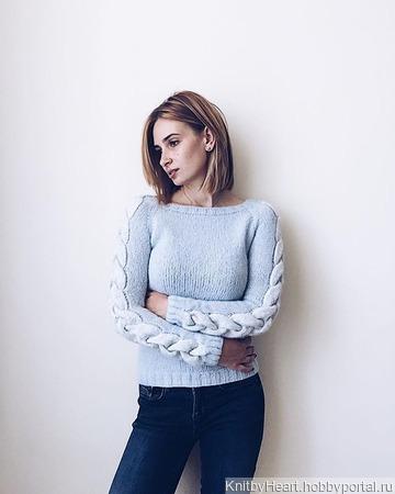Вязаный свитер из альпаки ручной работы на заказ