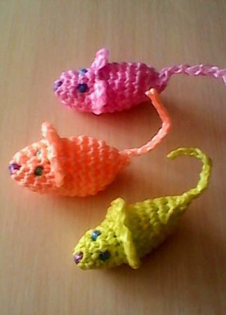 """Игрушка-когтеточка для кошек """"Мышка"""" ручной работы на заказ"""