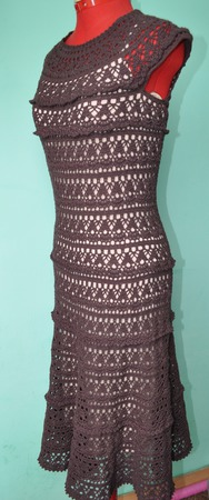 Платье женское летнее ажурное ручной работы на заказ