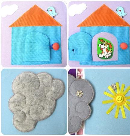 Книжка-малышка для ребенка первого года жизни ручной работы на заказ