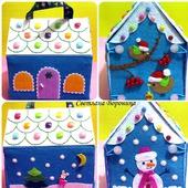 фото: Куклы и игрушки (домик из фетра)
