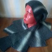 Комплект: мини-шаль и шапочка бини