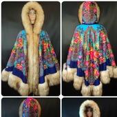 Пальто-Пончо из шалей