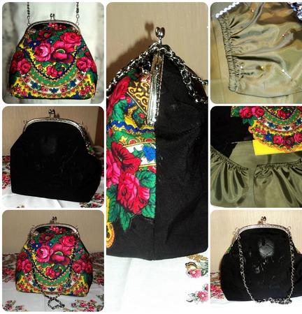 Дамская сумочка с фермуаром ручной работы на заказ