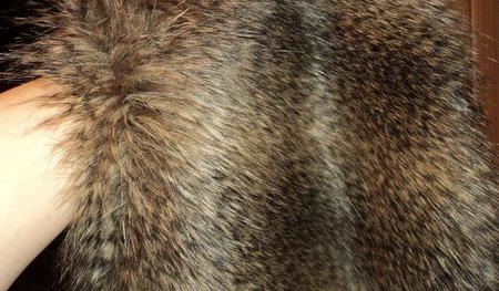 Мех искусственный под натуральный, енот ручной работы на заказ