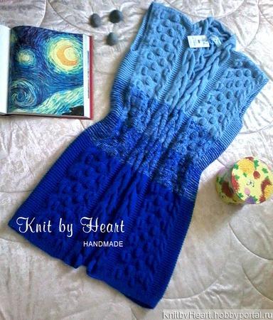 Вязаный кардиган Knit by Heart (жилет) в стиле Лало ручной работы на заказ