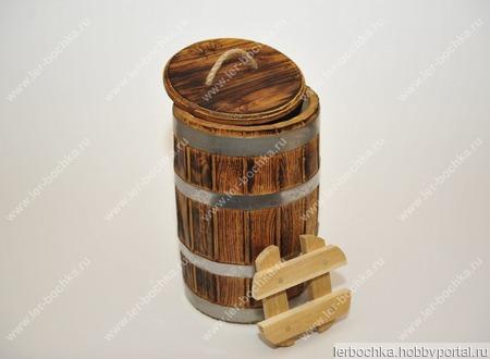Кадкаа дубовая под старину для засолки (5 л.) ручной работы на заказ
