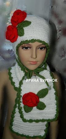 Шапочка и шарф ручной работы на заказ