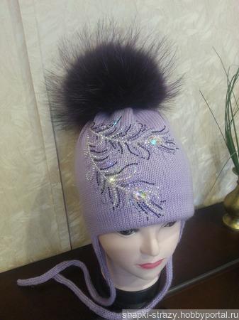 Зимняя шапочка р. 50-52 ручной работы на заказ