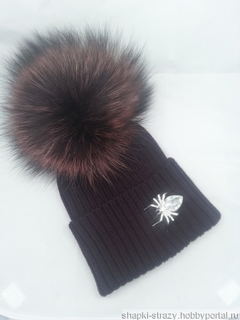 Зимняя шапочка р. 55-56 ручной работы на заказ