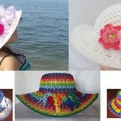 """Шляпки вязаные """"Цветочная оранжерея"""""""