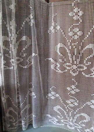 Вязаная штора  ажурная на кухню ручной работы на заказ