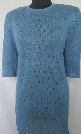 """Платье-туника """"Синий лен"""" ручной работы на заказ"""