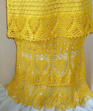 Ажурная вязаная юбка ручной работы на заказ
