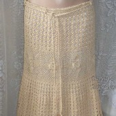 Ажурная вязаная юбка