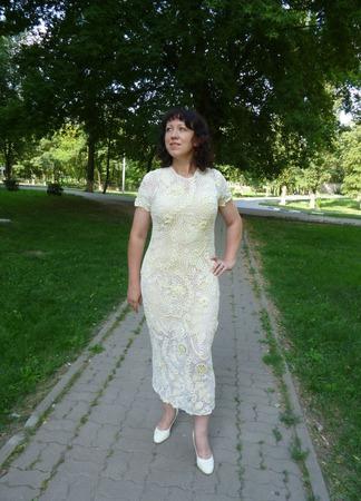 """Платье вязаное """"Нежное цветение"""" ручной работы на заказ"""