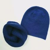 Комплект шапка бини и снуд меринос