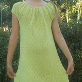 Мастер-класс по вязанию платья - сарафана - туники
