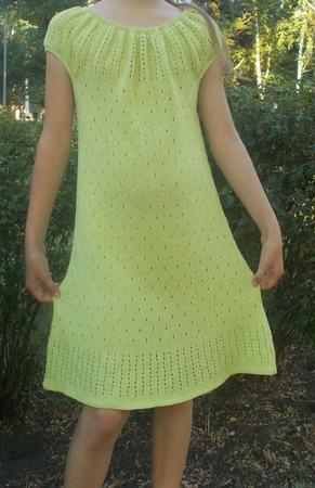 Мастер-класс по вязанию платья - сарафана - туники ручной работы на заказ