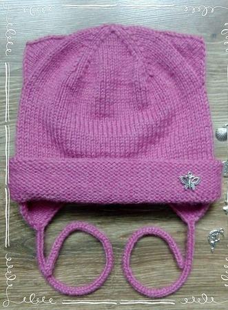 Комплект шапка котошапка и снуд ручной работы на заказ