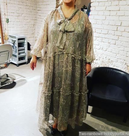 """Платье летнее стиль """"бохо"""" ручной работы на заказ"""