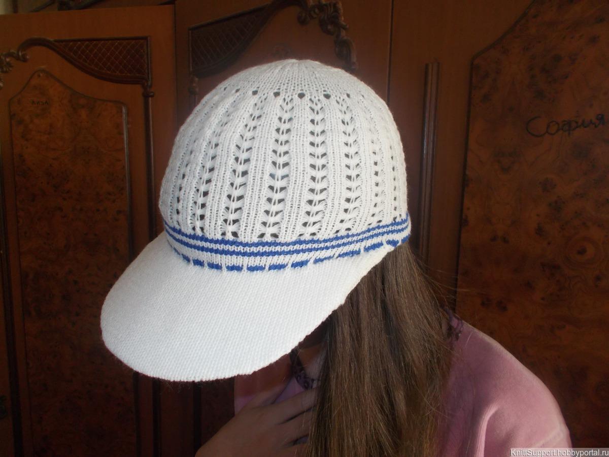 мастер класс по машинному вязанию кепки с козырьком купить в