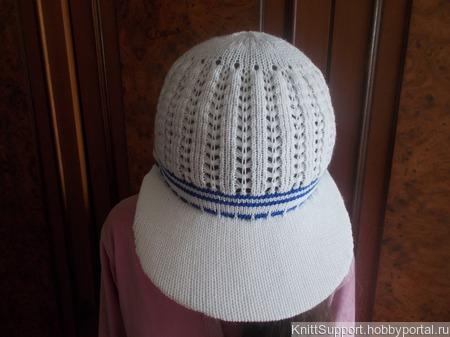 Мастер-класс по машинному вязанию кепки с козырьком ручной работы на заказ