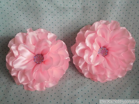 Резинки для волос с большим цветком ручной работы на заказ