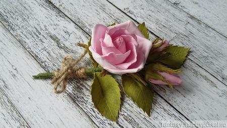 Розовый букетик ручной работы на заказ