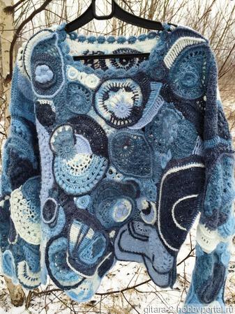 Джемпер в стиле фриформ ручной работы на заказ