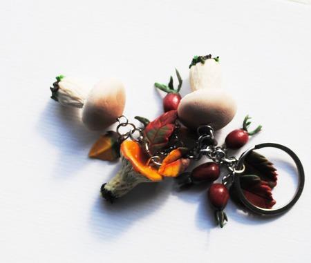 """Брелок """"скоро осень"""", полимерная глина ручной работы на заказ"""
