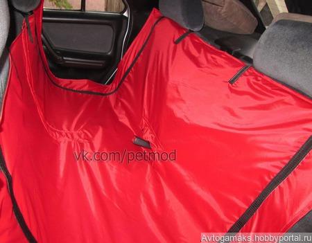 Автогамак усиленный красный ручной работы на заказ