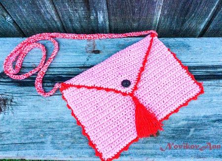Вязаная сумочка для девочки ручной работы на заказ