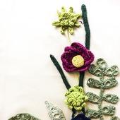 Цветы и листья, вязаные крючком для декора